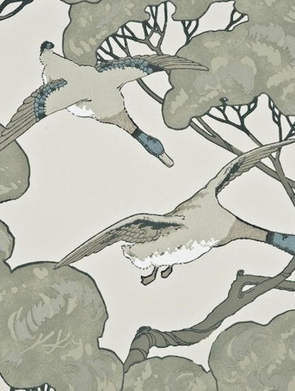 Picture of Flying Ducks Silver/Taupe - FG066J80