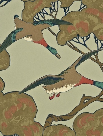 Picture of Flying Ducks Sky/Moss - FG066H22