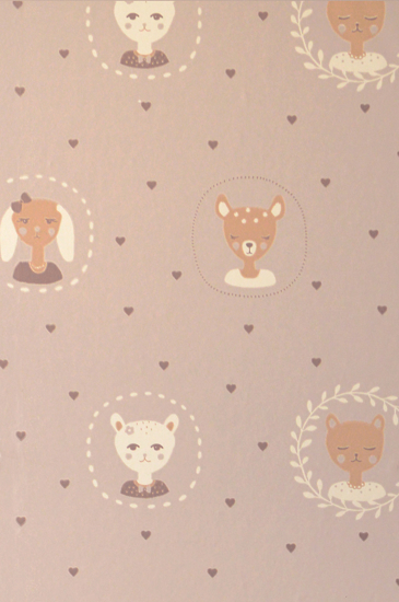 Picture of HEARTS DUSTY WARM LILAC - 148-02